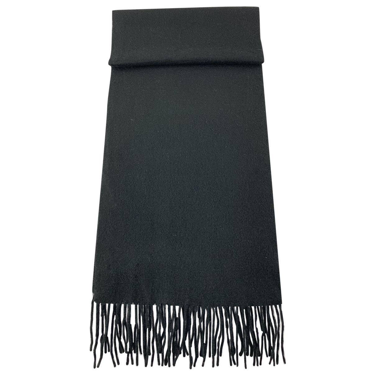 Non Signé / Unsigned \N Black Cashmere scarf for Women \N