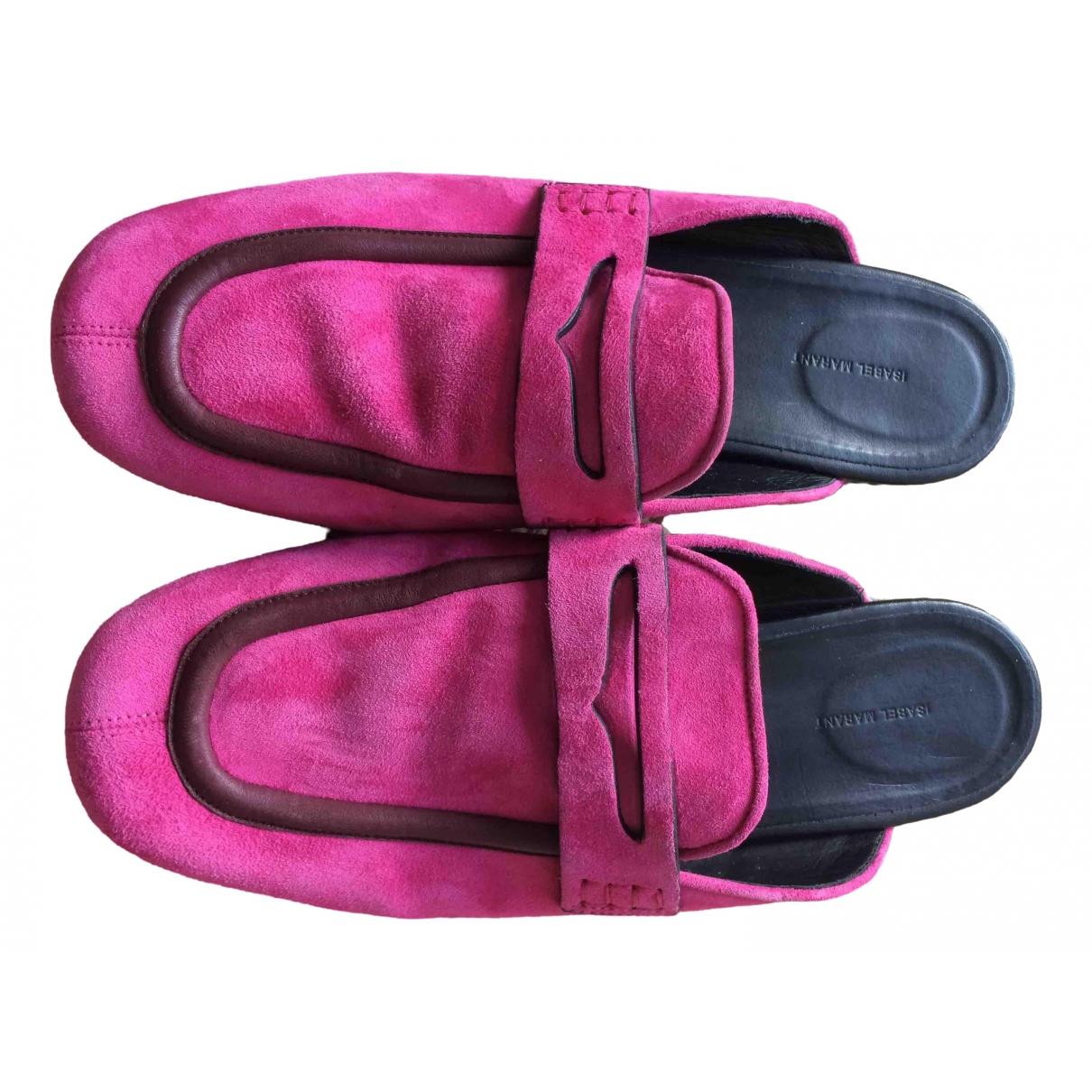 Isabel Marant Follan Pink Leather Sandals for Women 41 EU