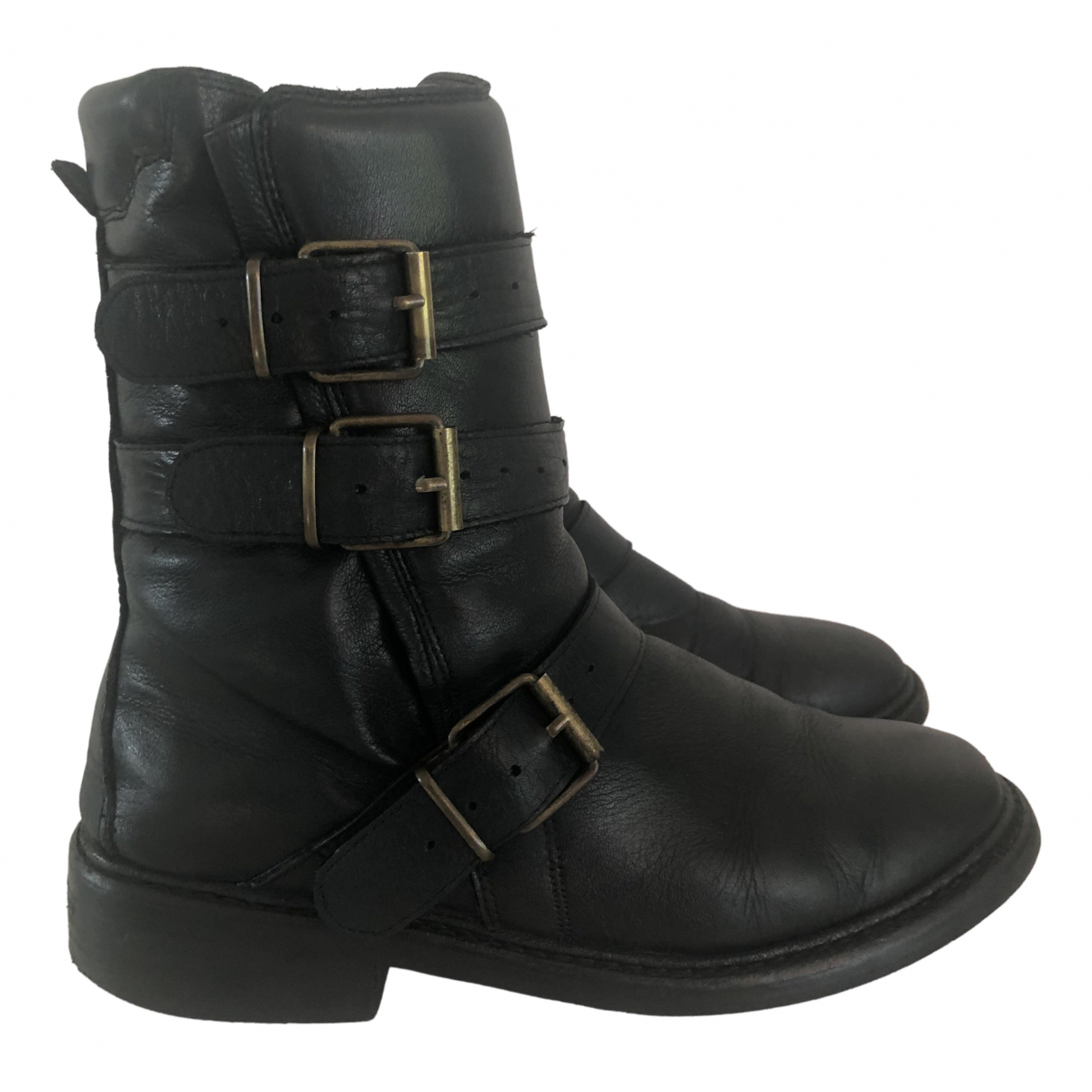 Burberry \N Black Leather Boots for Women 39 EU