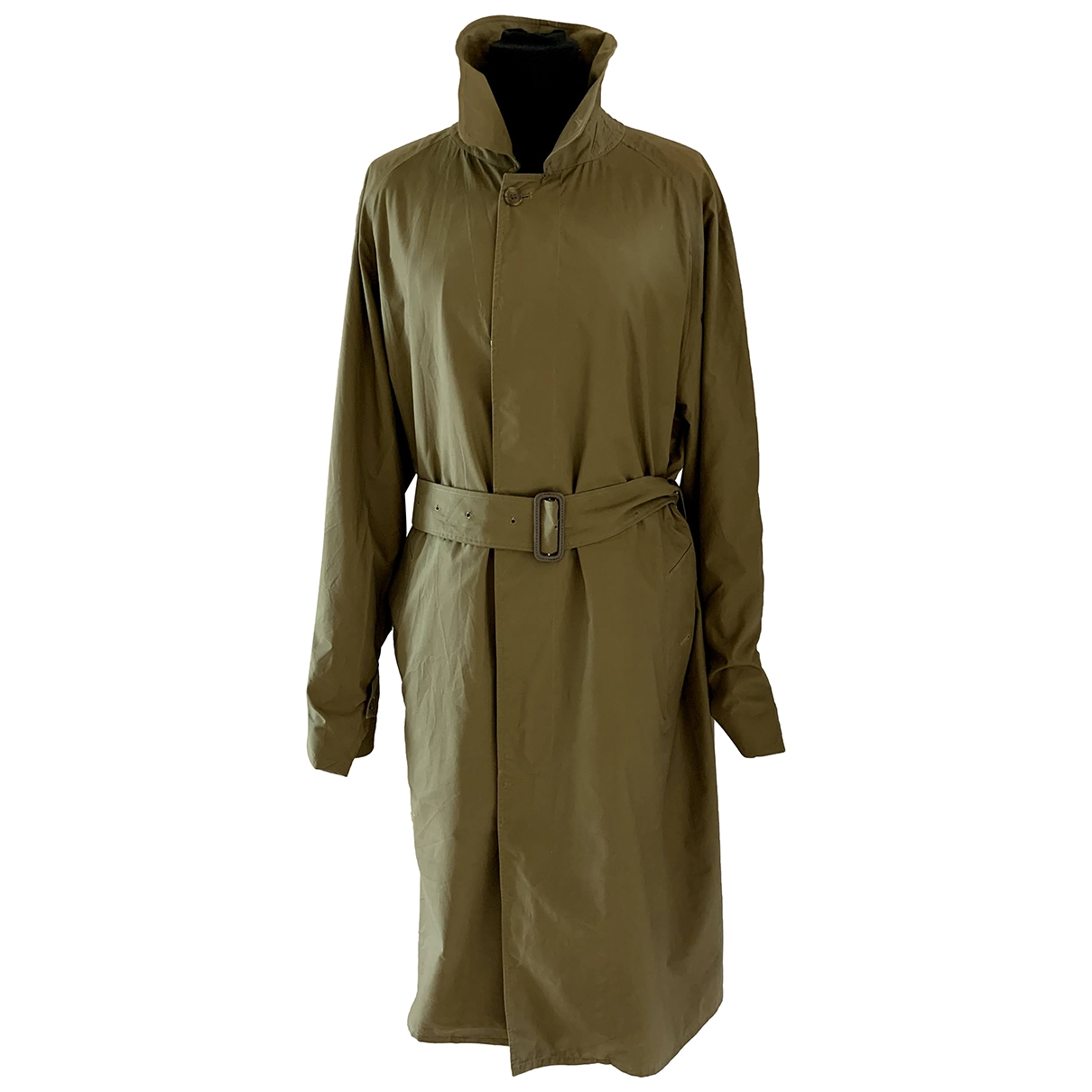 Burberry \N Green Cotton Trench coat for Women 48 FR