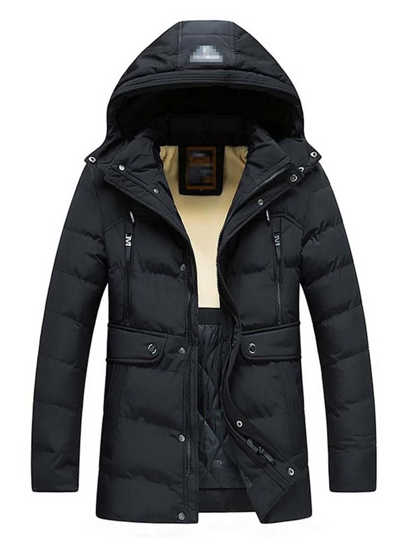 Ericdress Zipper Plain Color Hooded Zipper European Men's Down Jacket