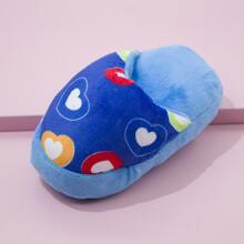 1pc Heart Pattern Slipper Design Dog Sound Toy