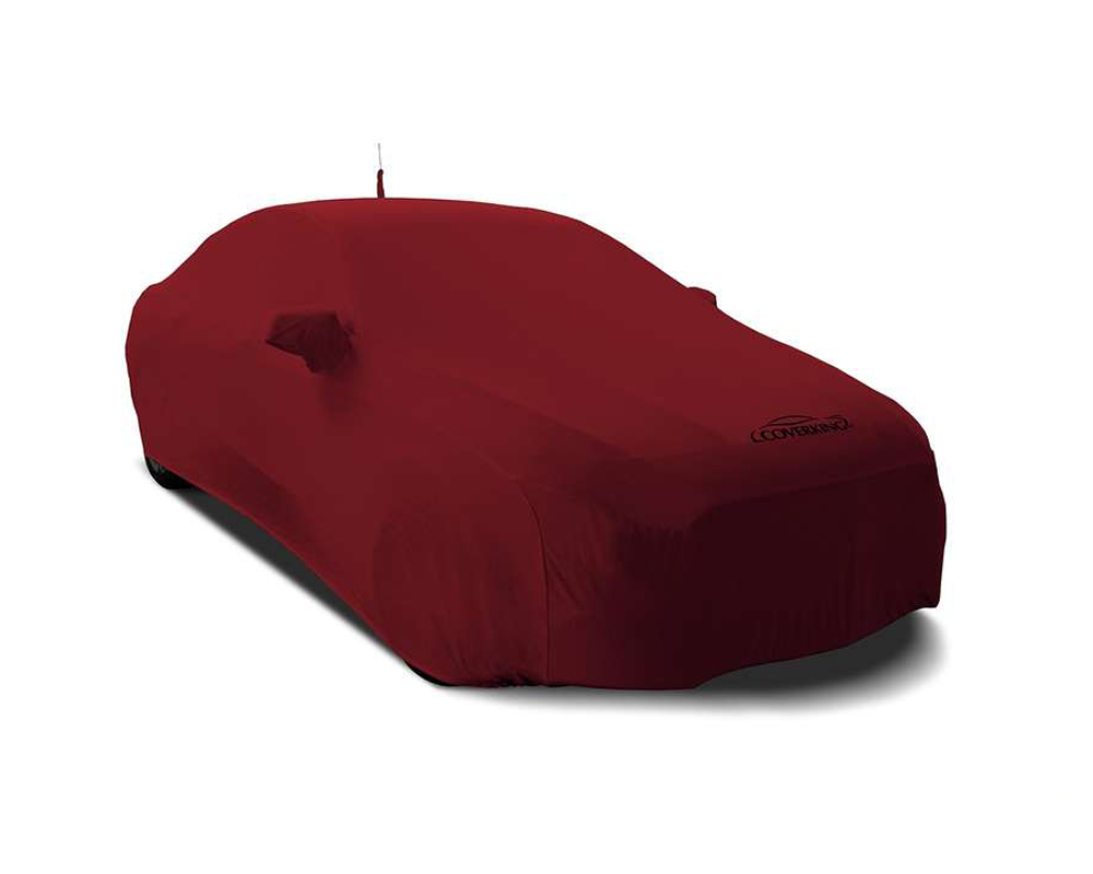 Coverking CVC2SS79FT7038 CVC2SS79 Satin Stretch Ruby Red Custom Car Cover Fiat 124 Spider 17-19