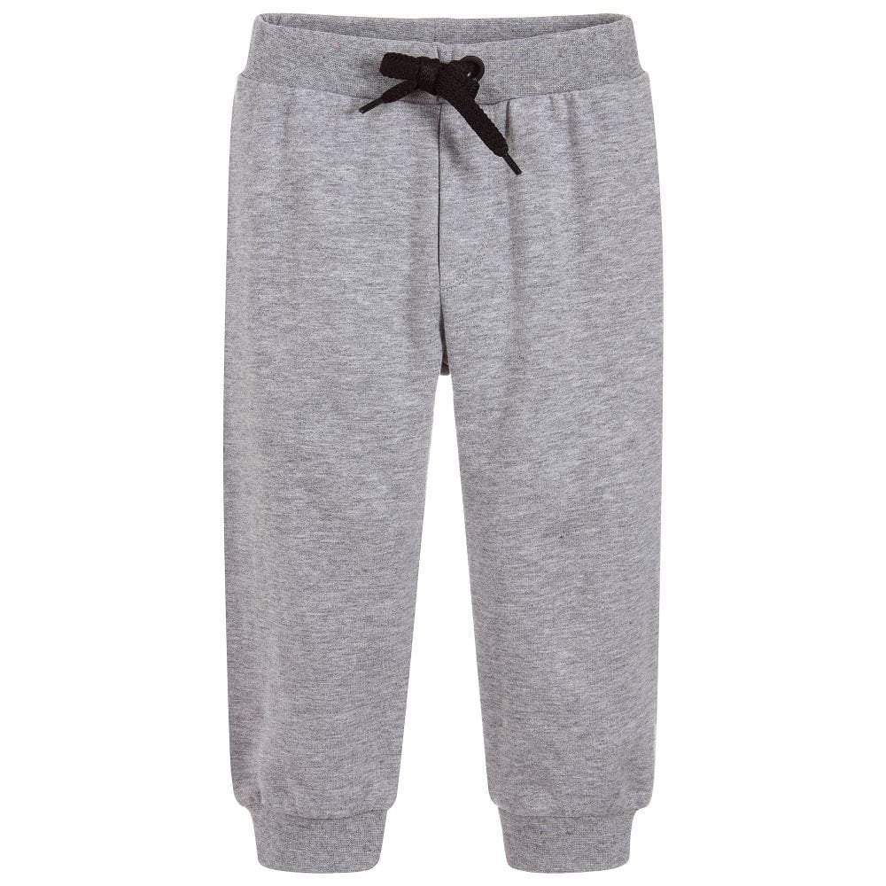 Fendi Kids Small Logo Joggers Grey Colour: GREY, Size: 12+ YEARS