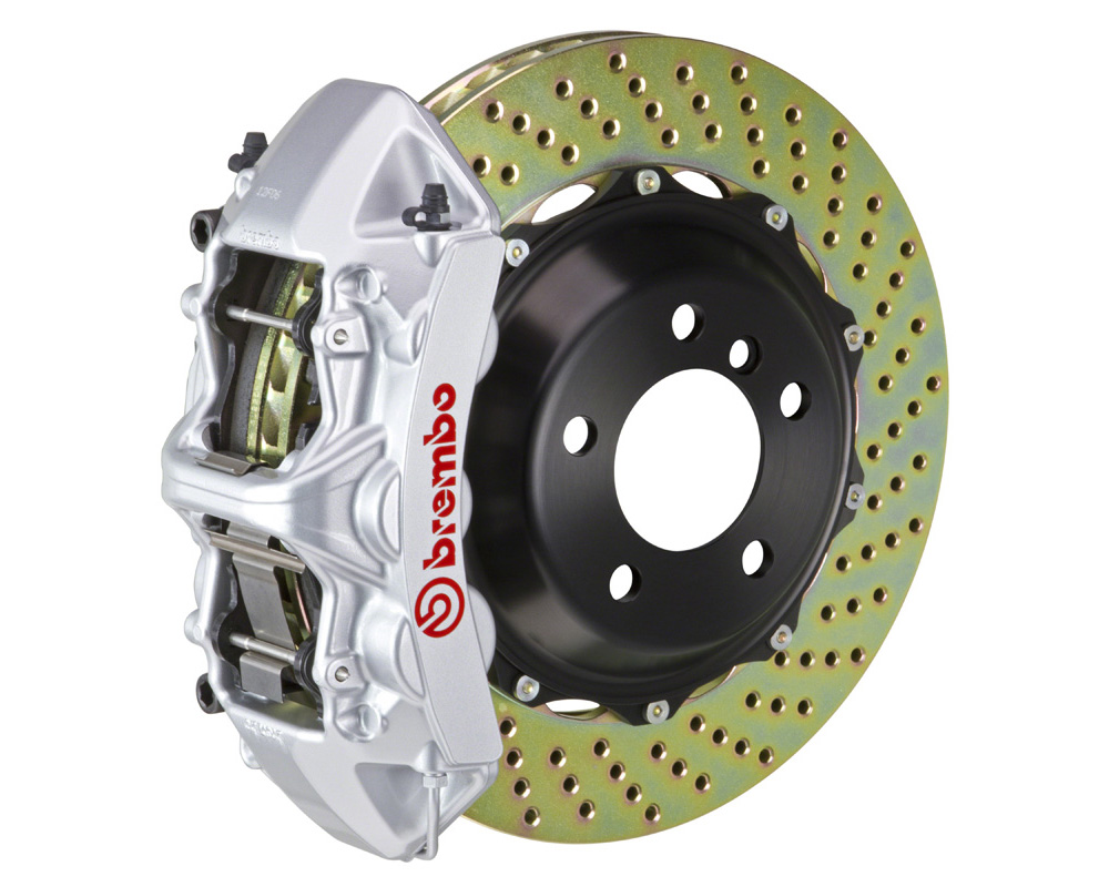 Brembo GT 355x32 2-Piece 6 Piston Silver Drilled Front Big Brake Kit