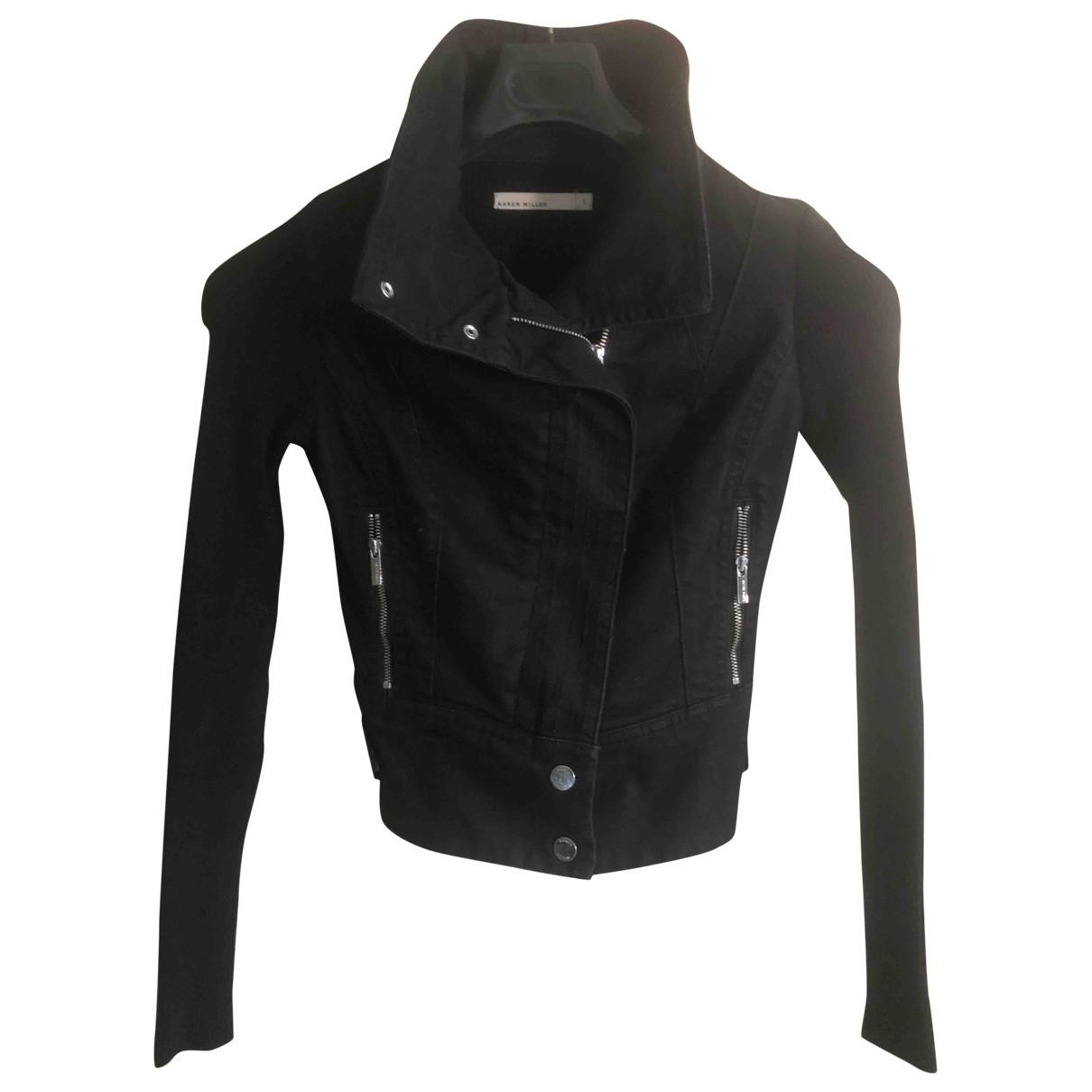 Karen Millen \N Black Denim - Jeans jacket for Women S International
