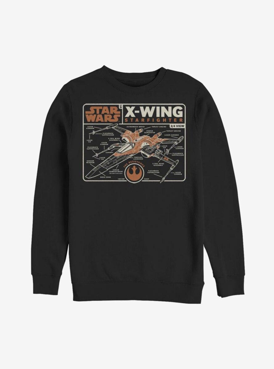 Star Wars Episode IX The Rise Of Skywalker Starfigher Schematic Sweatshirt