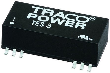 TRACOPOWER TES 3 3W Isolated DC-DC Converter Surface Mount, Voltage in 9 → 18 V dc, Voltage out ±15V dc