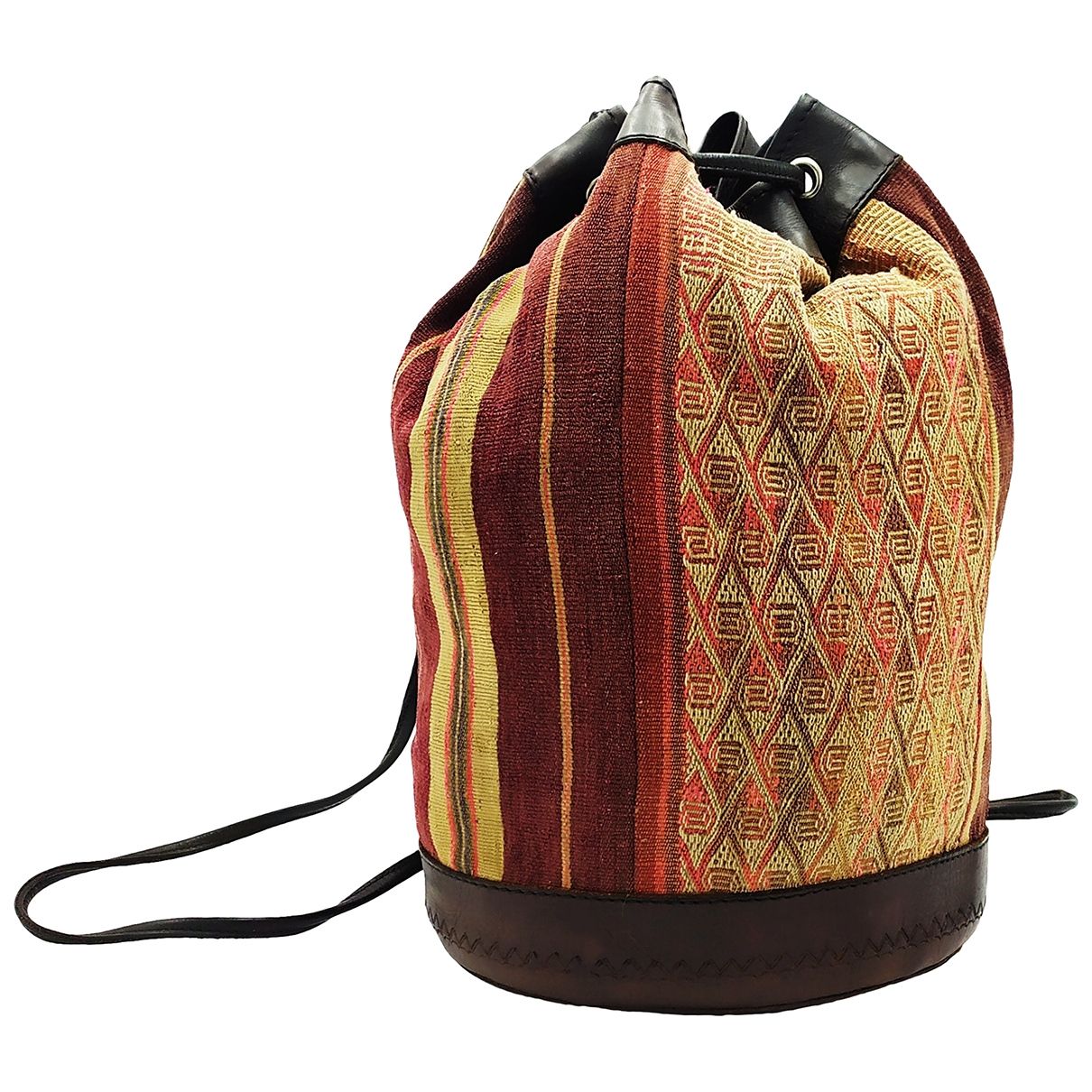 Non Sign?? / Unsigned \N Brown Cloth backpack for Women \N
