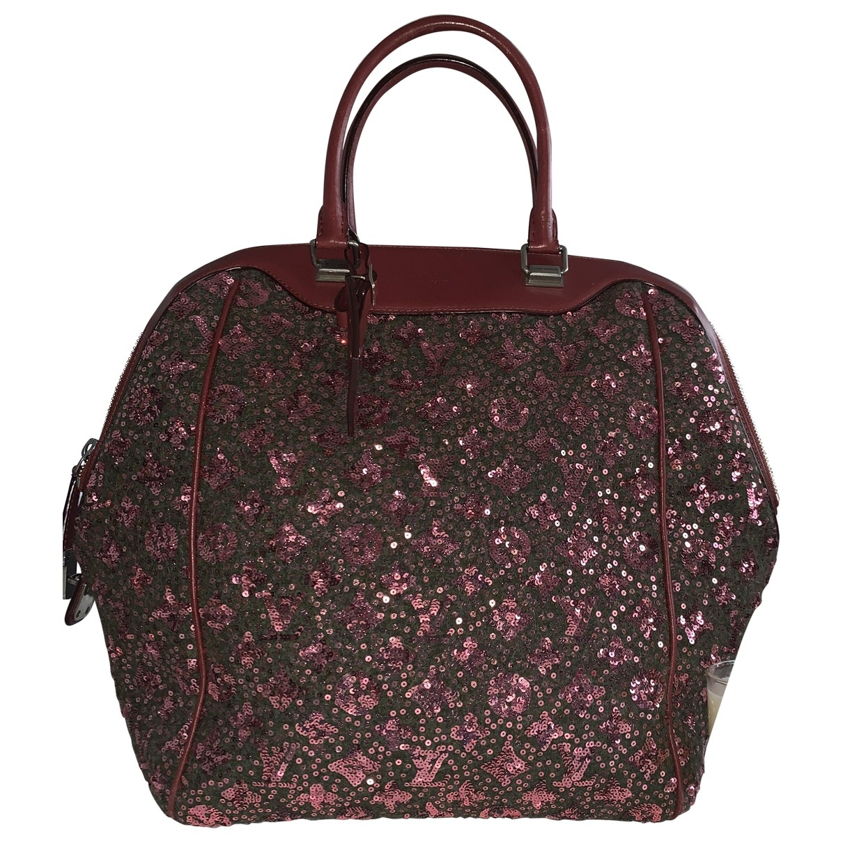 Louis Vuitton \N Burgundy Glitter handbag for Women \N