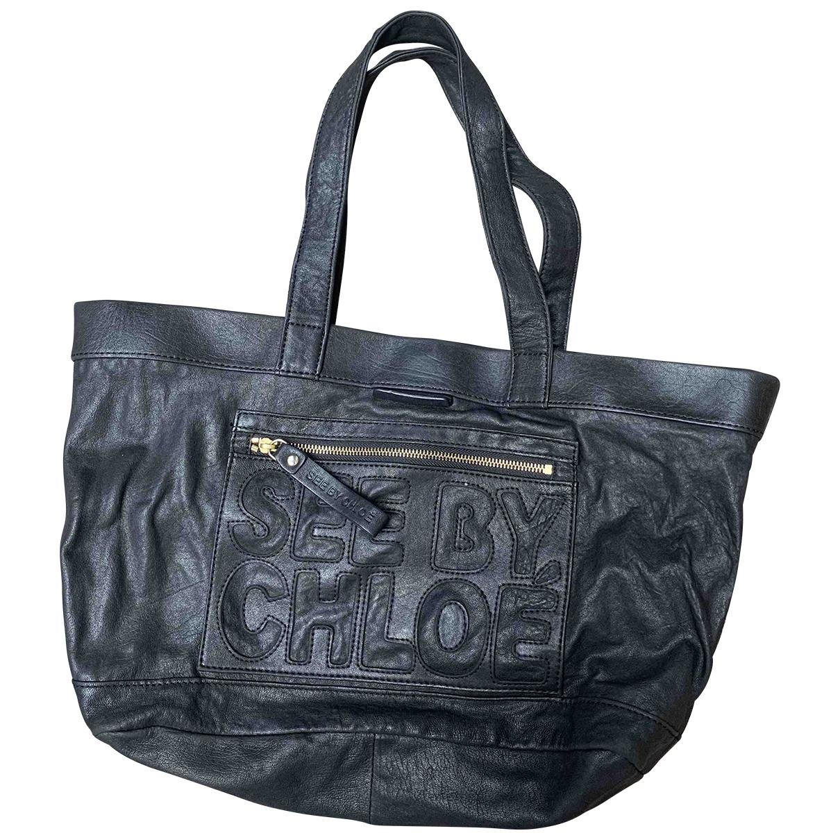 See By Chloé \N Black Leather handbag for Women \N