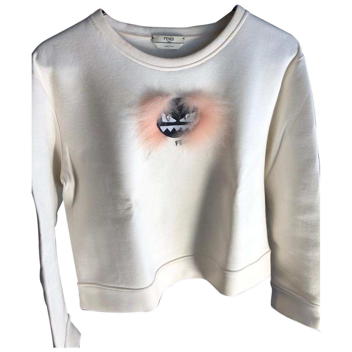 Fendi \N Beige Cotton Knitwear for Women 40 IT