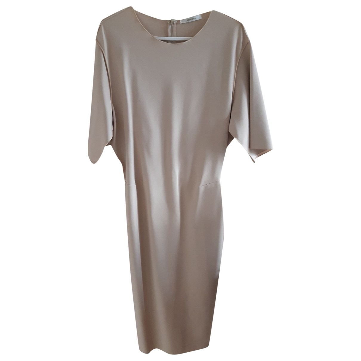 Max Mara \N Beige Cotton - elasthane dress for Women 42 IT
