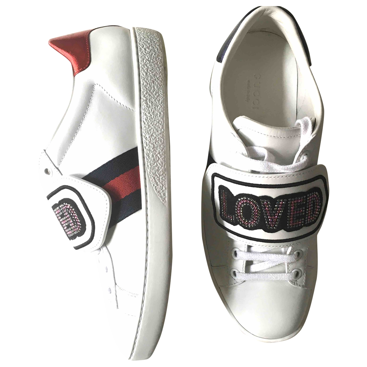 Gucci Ace White Leather Trainers for Women 36.5 EU