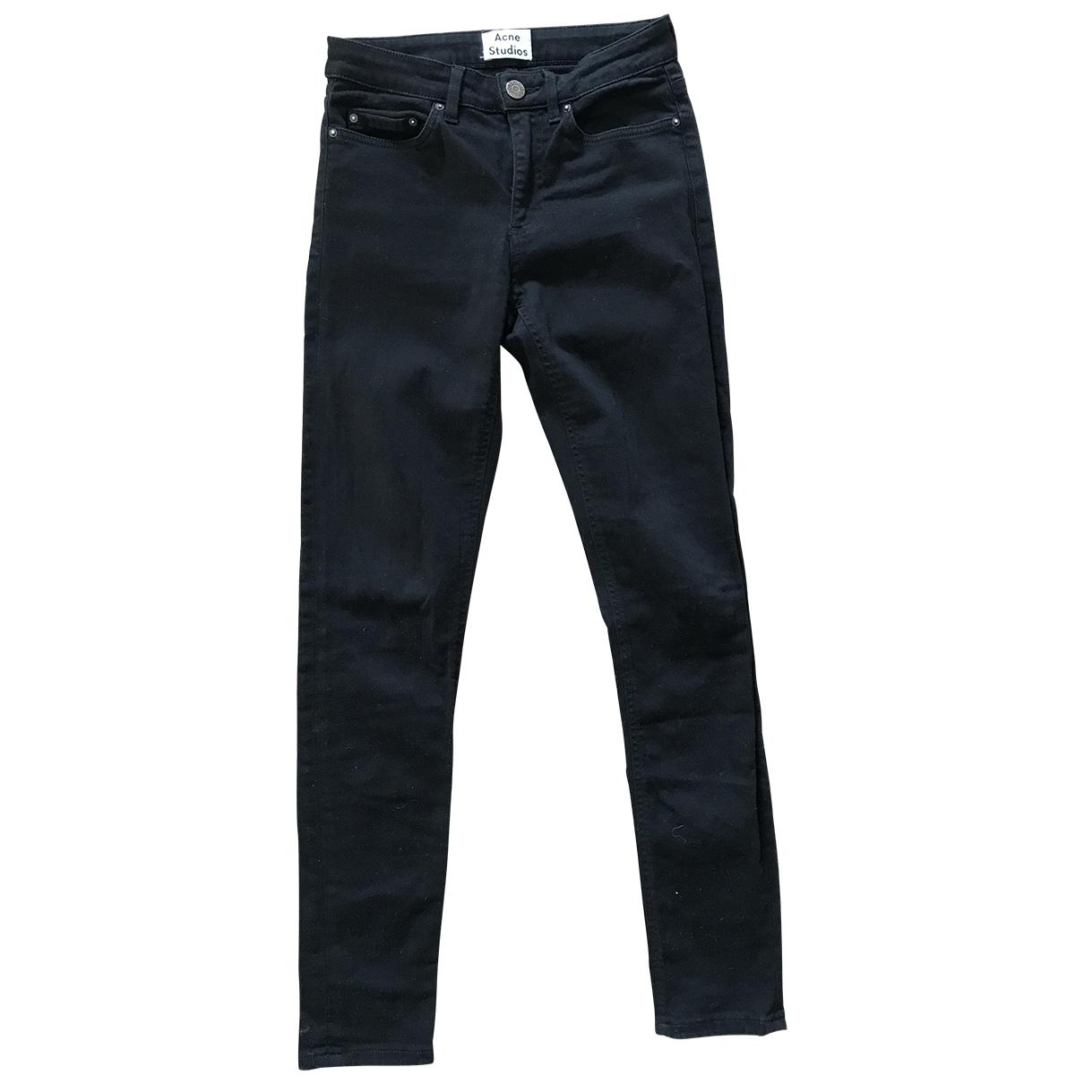 Acne Studios Skin 5 Black Cotton - elasthane Jeans for Women 25 US