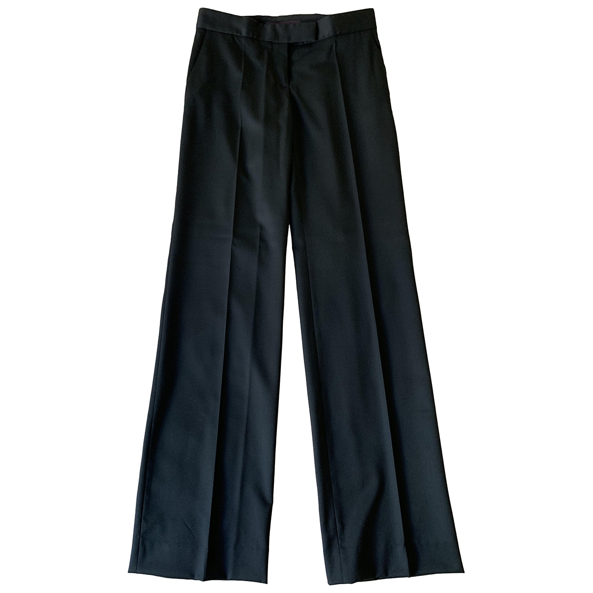 Stella Mccartney \N Black Wool Trousers for Women 38 IT