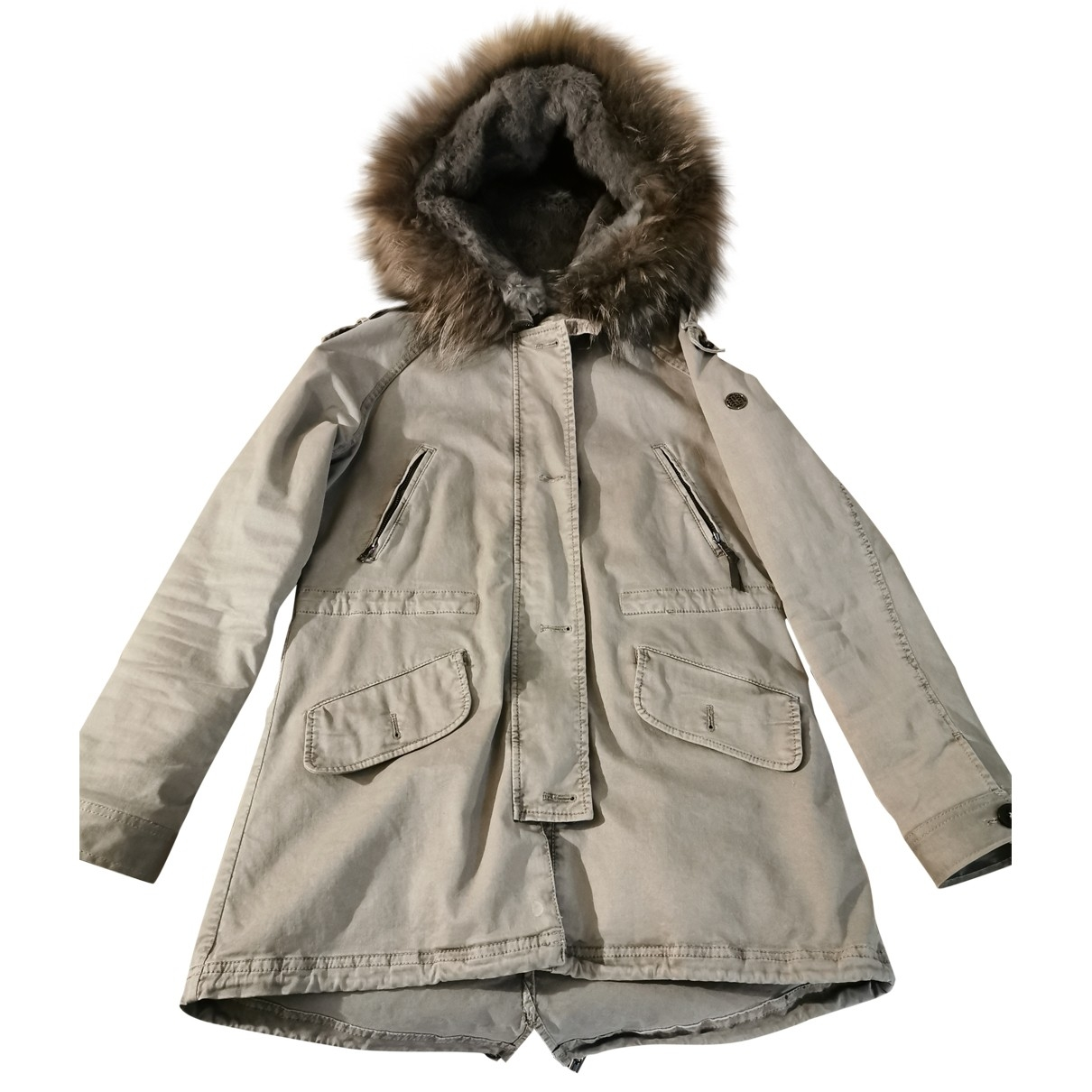 Blonde No.8 \N Khaki Cotton coat for Women 38 FR