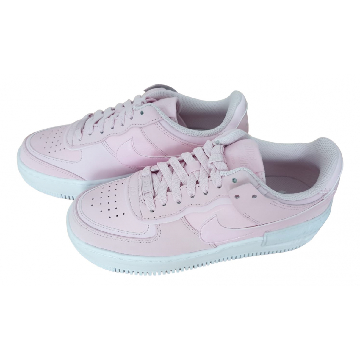 Nike Air Force 1 Pink Leather Trainers for Women 38.5 EU
