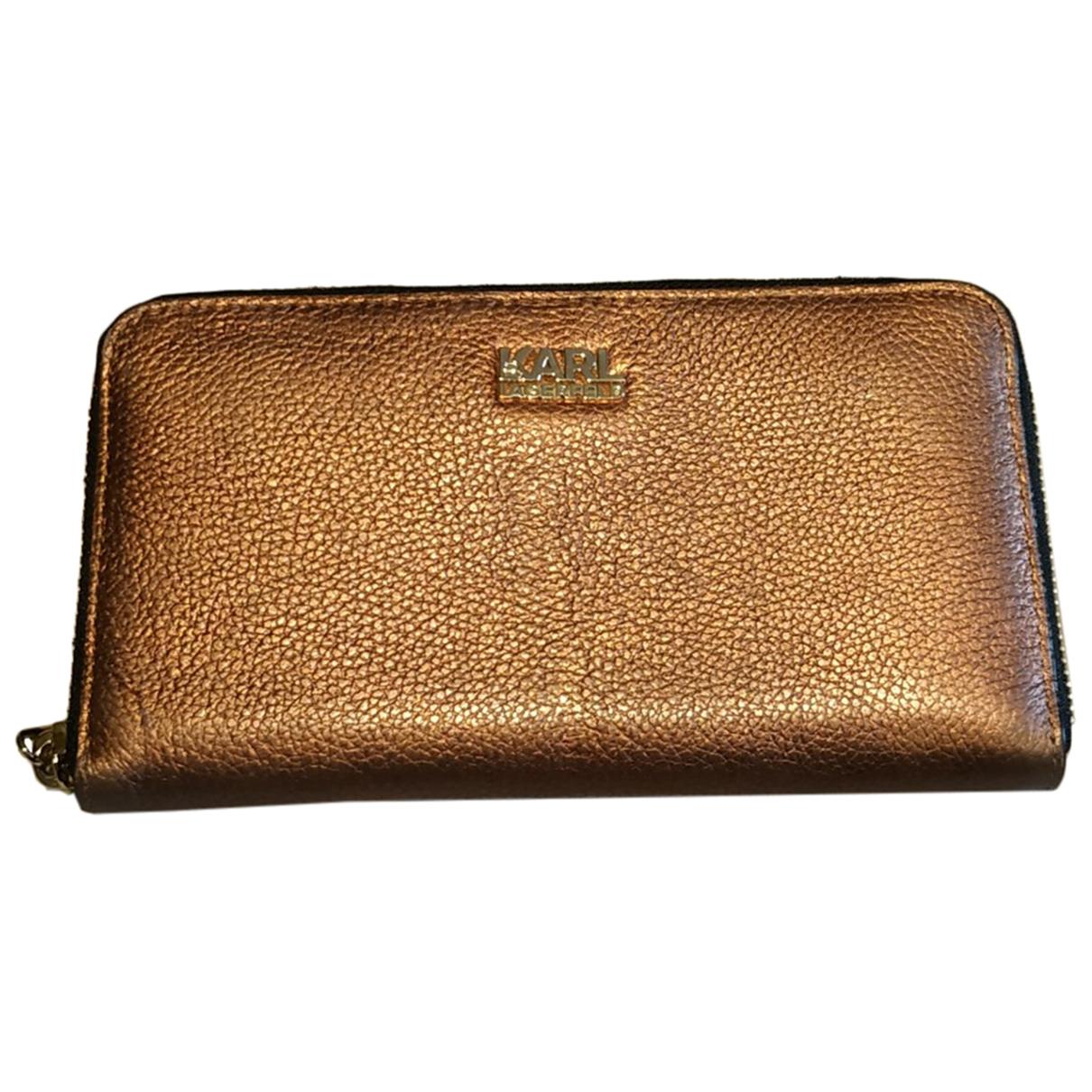 Karl Lagerfeld \N Metallic Leather wallet for Women \N