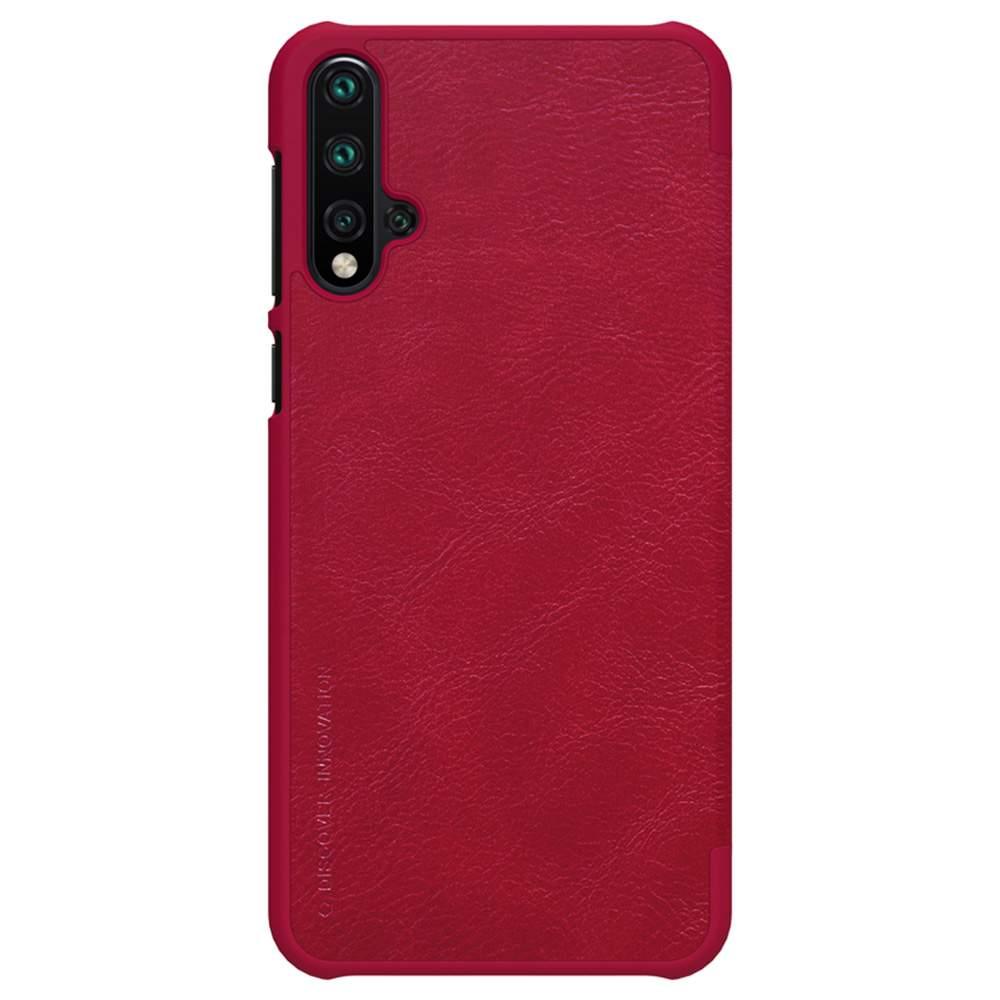 NILLKIN Protective Leather Phone Case For HUAWEI Nova 5 / Nova 5 Pro Smartphone - Red