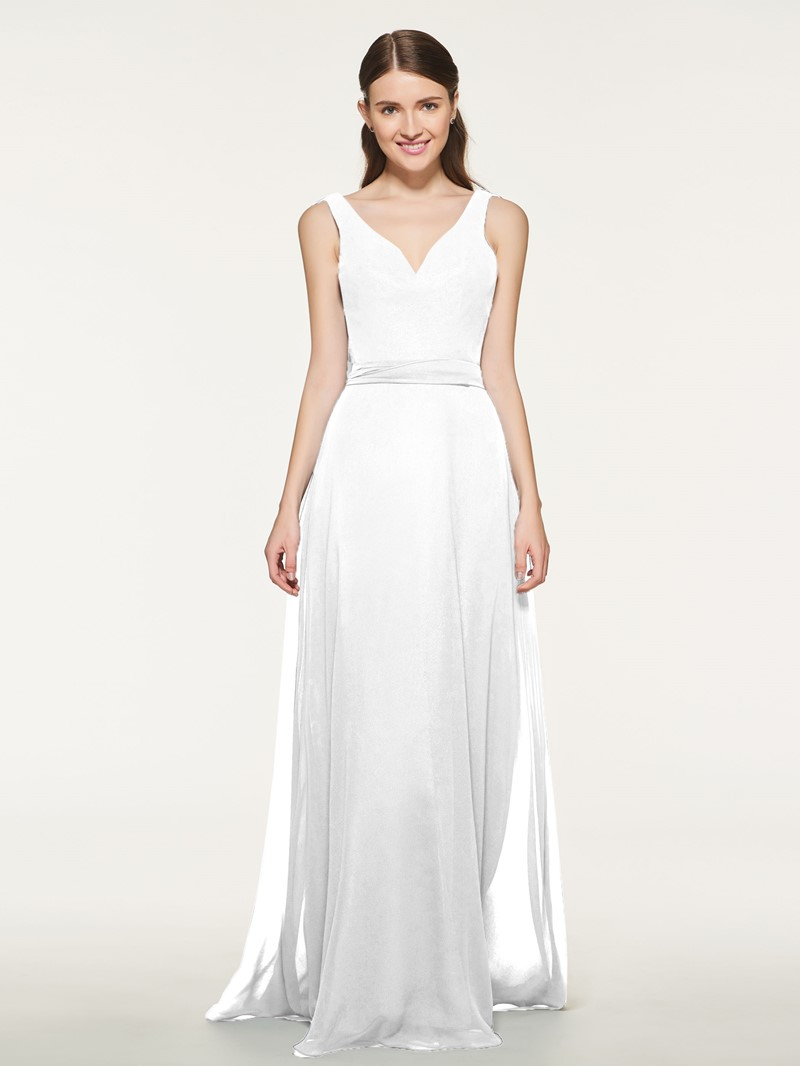 Ericdress V-Neck A-Line Sashes Bridesmaid Dress