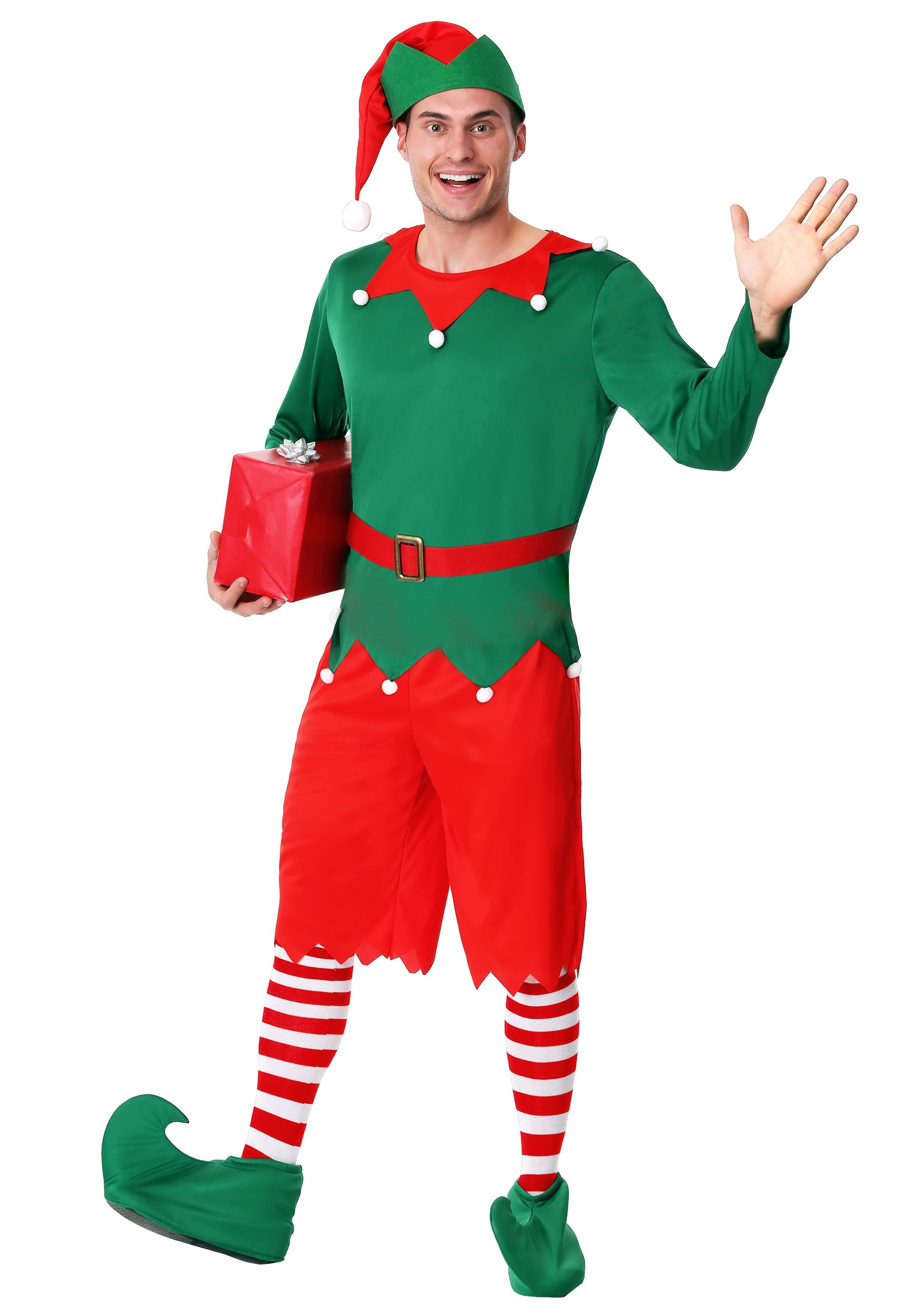 Adult Plus Size Santa's Helper Costume