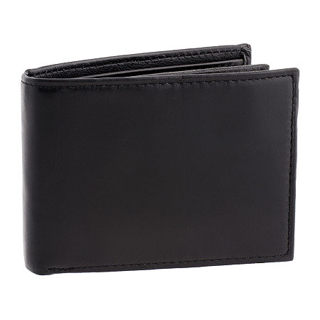 Stafford Extra Capacity RFID Slim Fold Wallet, One Size , Black