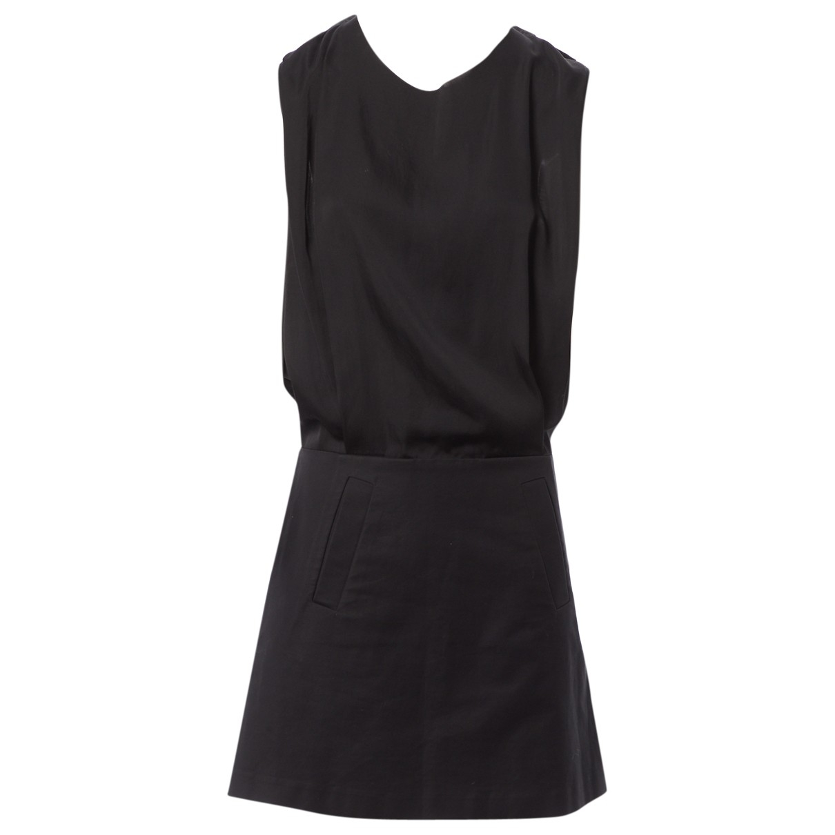 Acne Studios \N Black Cotton dress for Women 36 FR