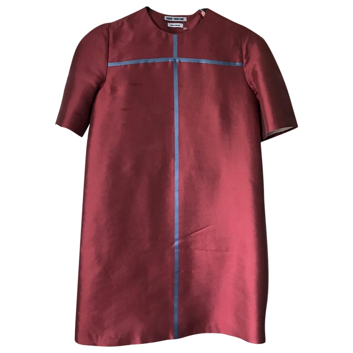 Osman London \N Red Silk dress for Women 8 UK