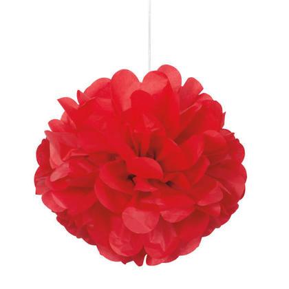 Rouge rubis Mini Bouffée de Tissus Décorations 8'' 3Pcs