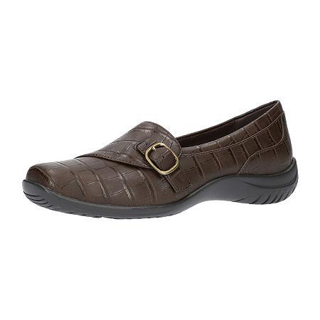 Easy Street Womens Cinnamon Slip-On Shoe, 10 Wide, Brown
