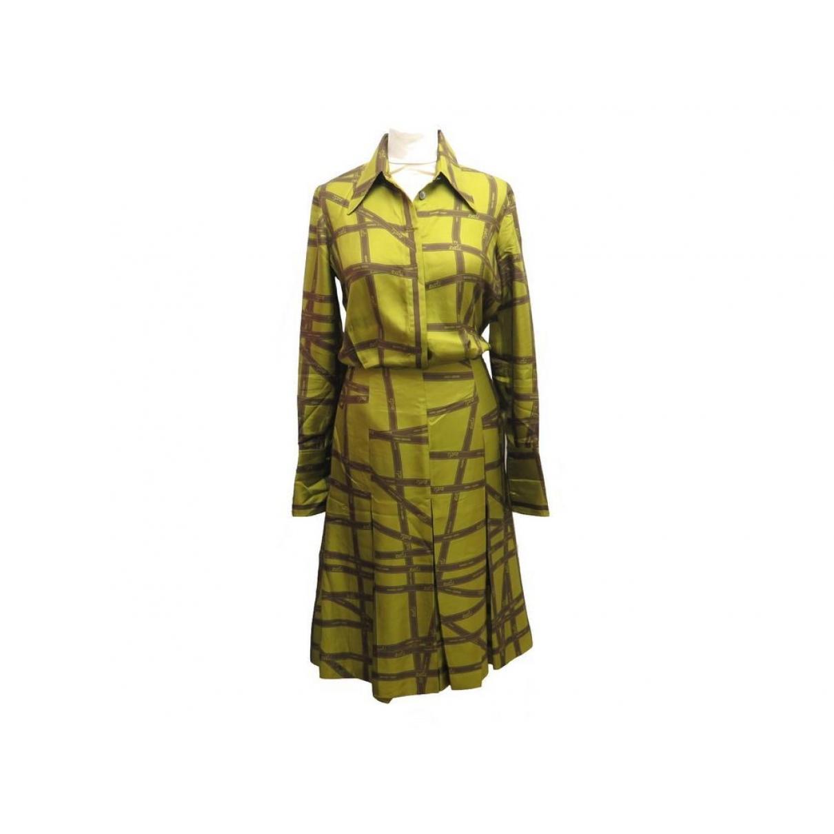 Hermès \N Green Silk dress for Women 36 FR