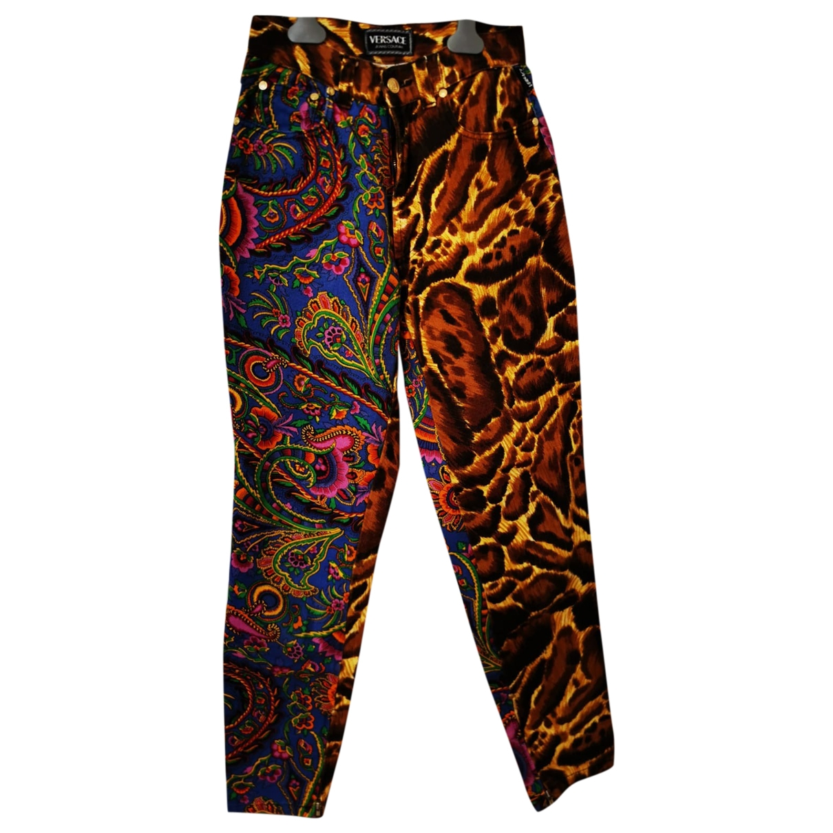 Versace Jeans \N Multicolour Cotton Trousers for Women S International