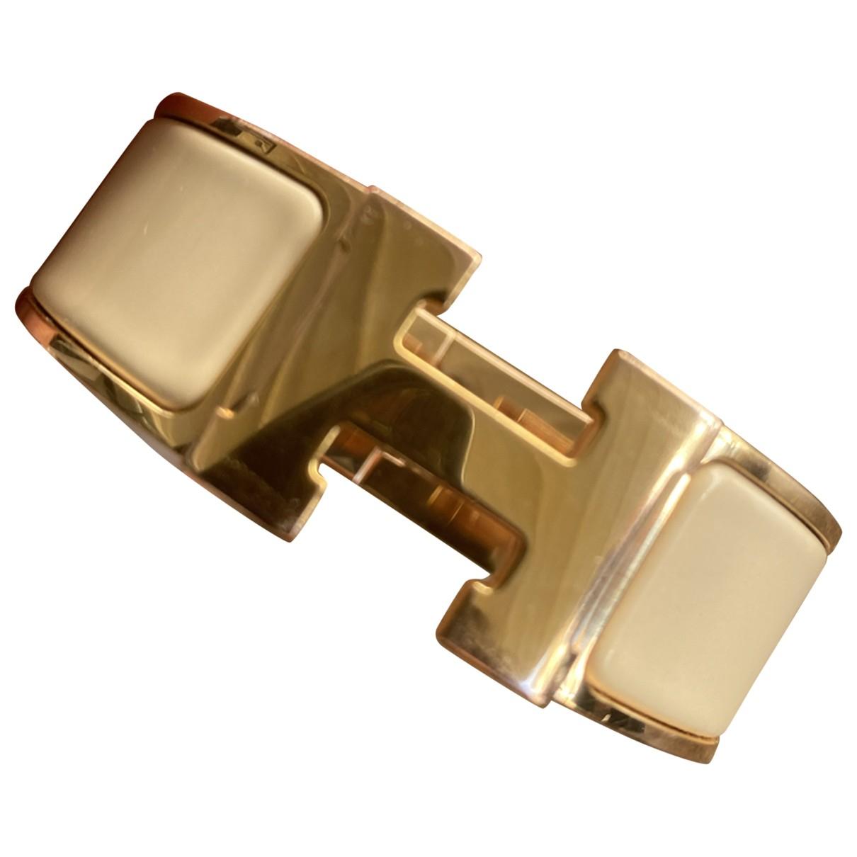 Hermès Clic H Beige Metal bracelet for Women \N