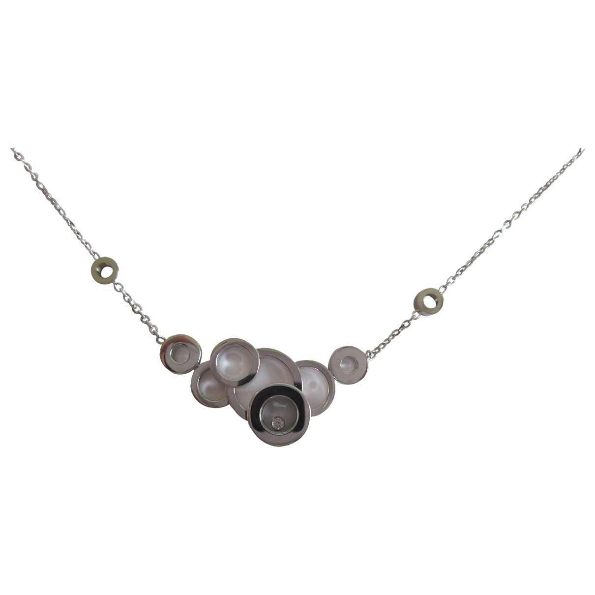 Chopard Happy Diamonds Grey White gold necklace for Women \N