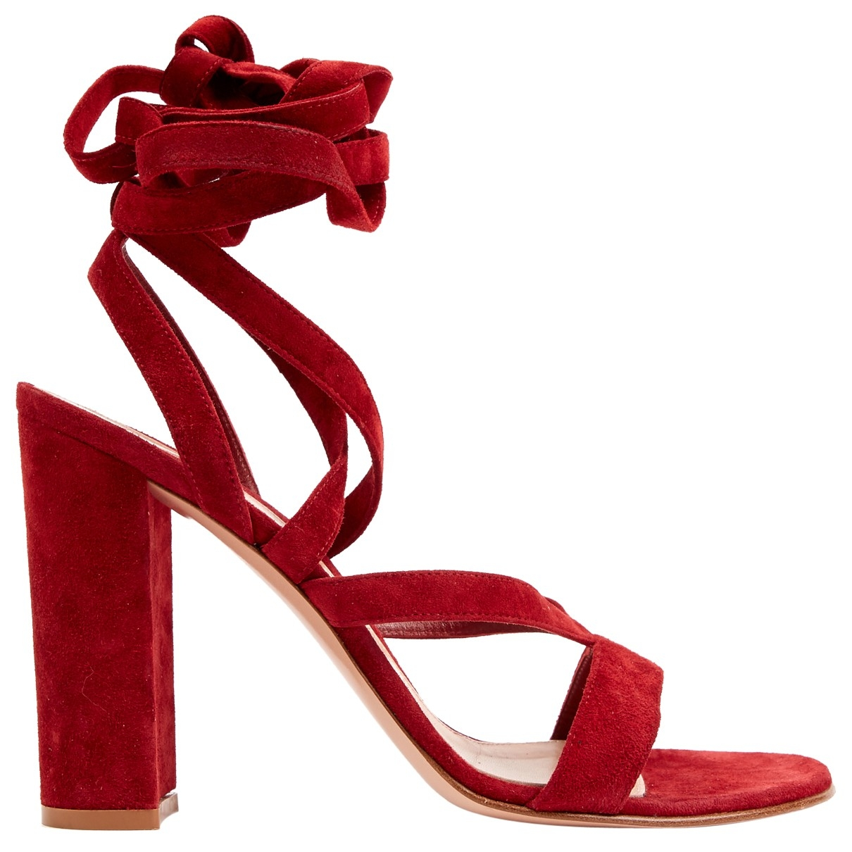 Gianvito Rossi \N Burgundy Suede Heels for Women 40 EU