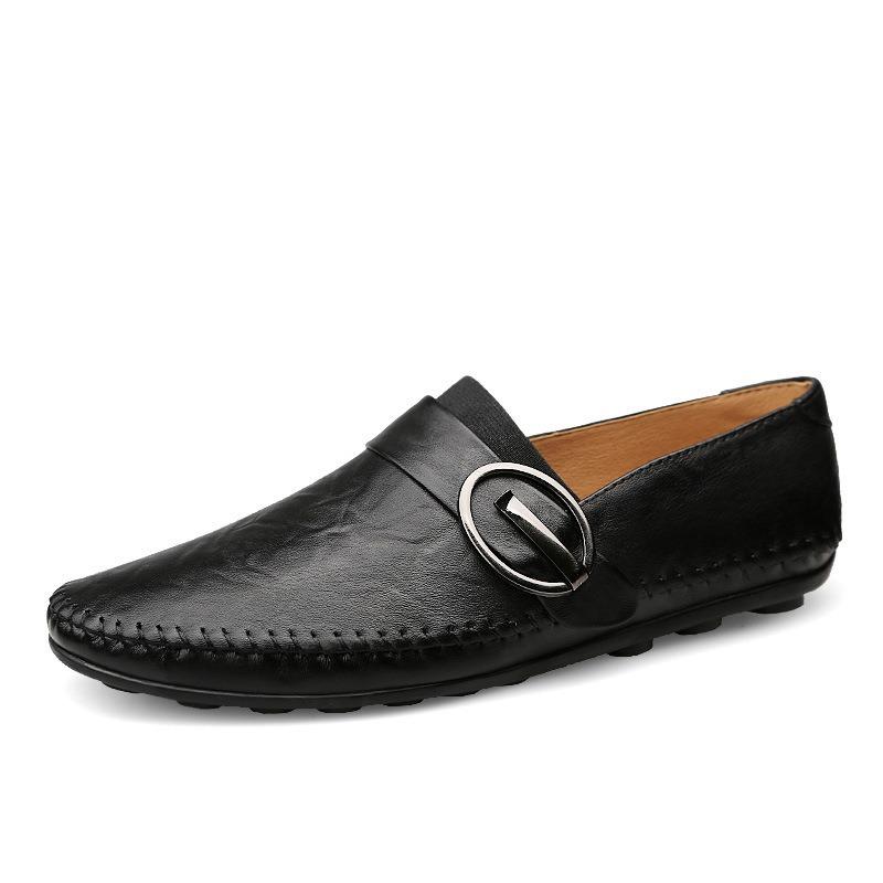 Ericdress PU Buckle Slip-On Men's Loafers