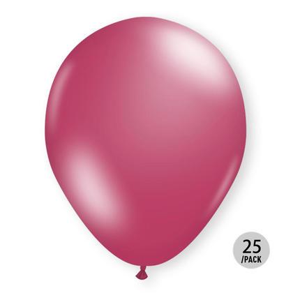 Fuchsia Metallic Balloons Helium Quality 12