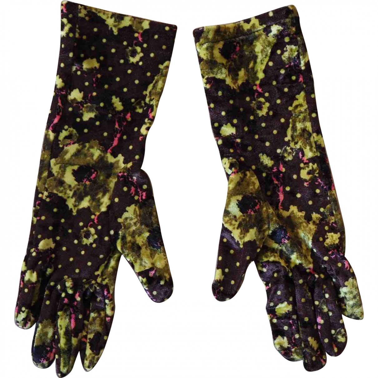 Kenzo \N Brown Velvet Gloves for Women S International