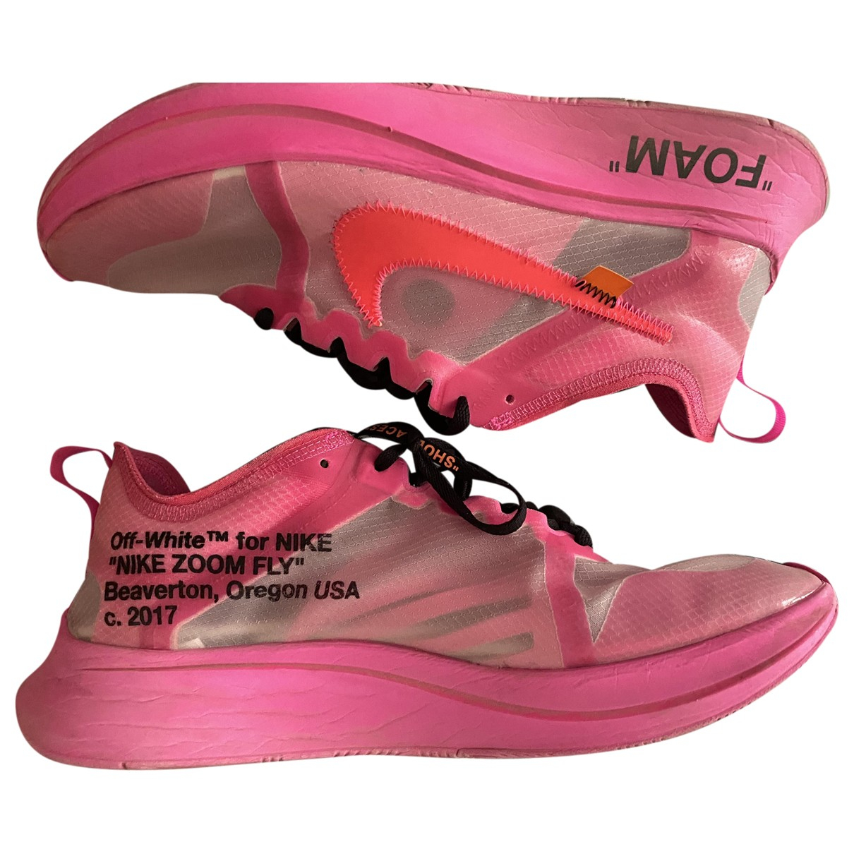 Nike X Off-white Zoom Fly Pink Trainers for Men 10.5 US