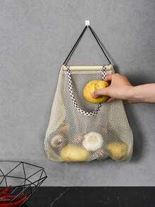 1pc Kitchen Hanging Mesh Storage Bag