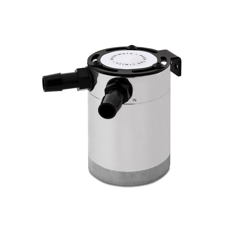 Mishimoto MMBCC-CBTWO-P Compact Baffled Oil Catch Can (Polished | 2 Port)