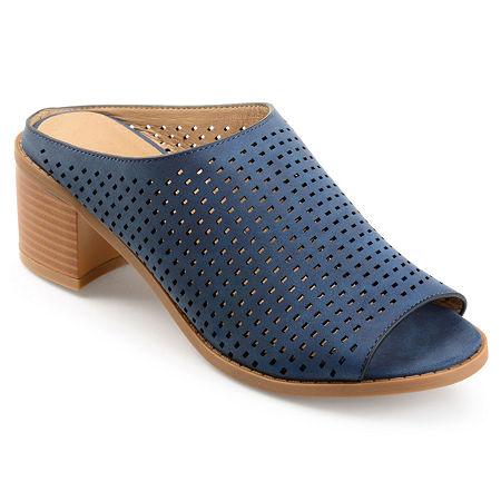 Journee Collection Womens Ziff Mules, 10 Medium, Blue