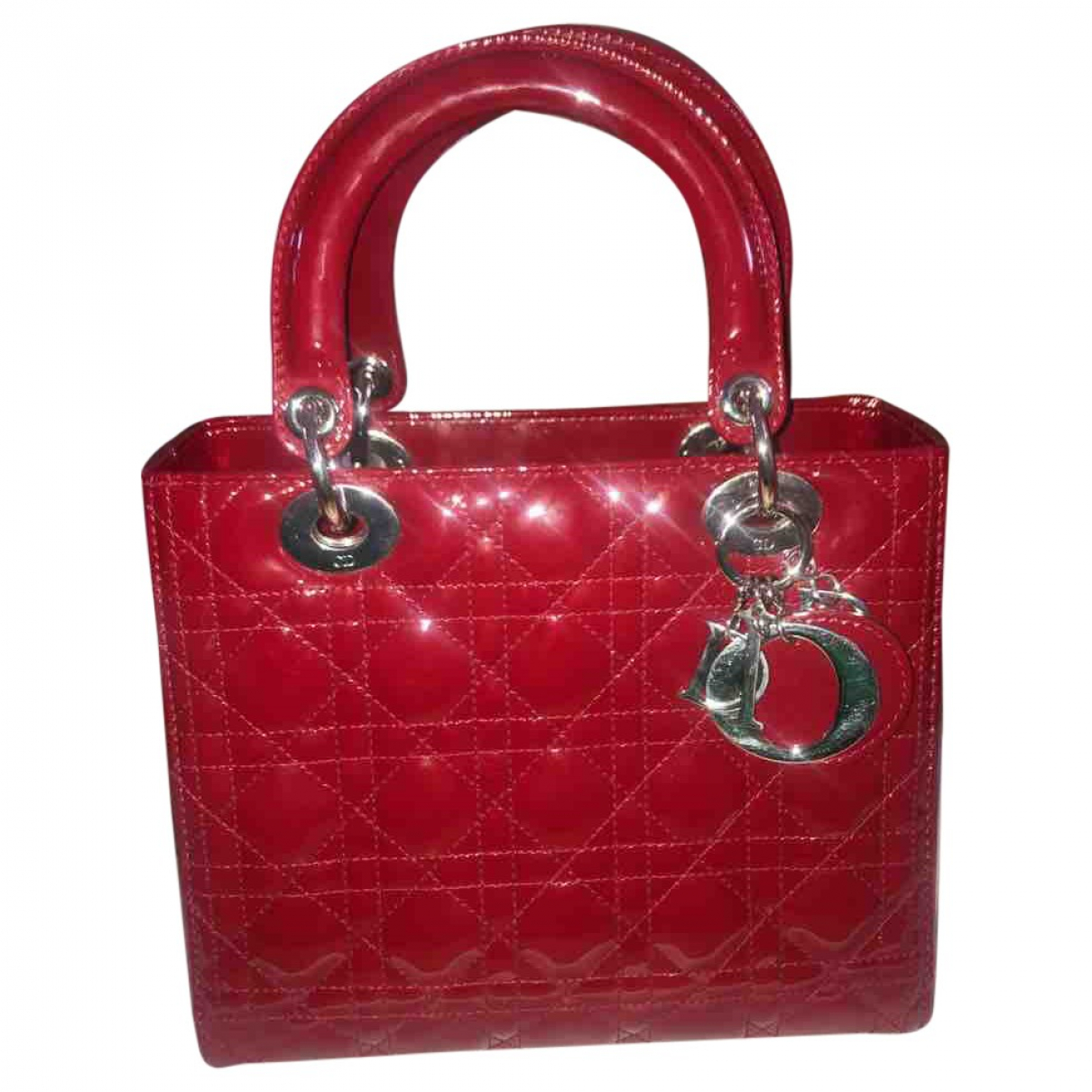 Dior Lady Dior Red Patent leather handbag for Women \N