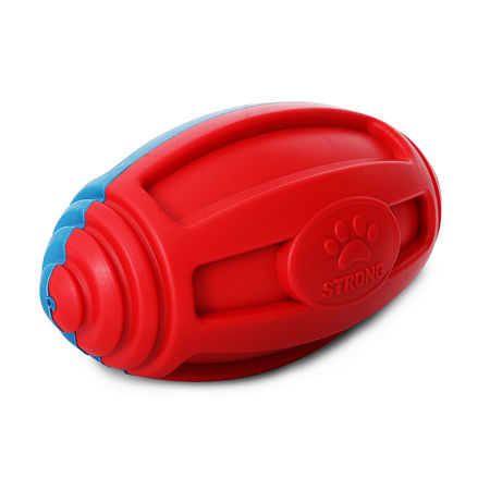Pet Life Gridiron Football Durable Water FloatingChew and Fetch Dog Toy, One Size , Red