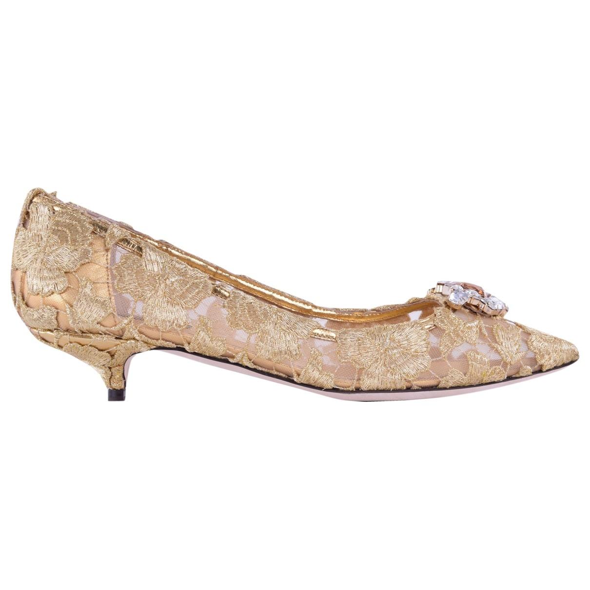 Dolce & Gabbana \N Gold Cloth Heels for Women 36.5 EU