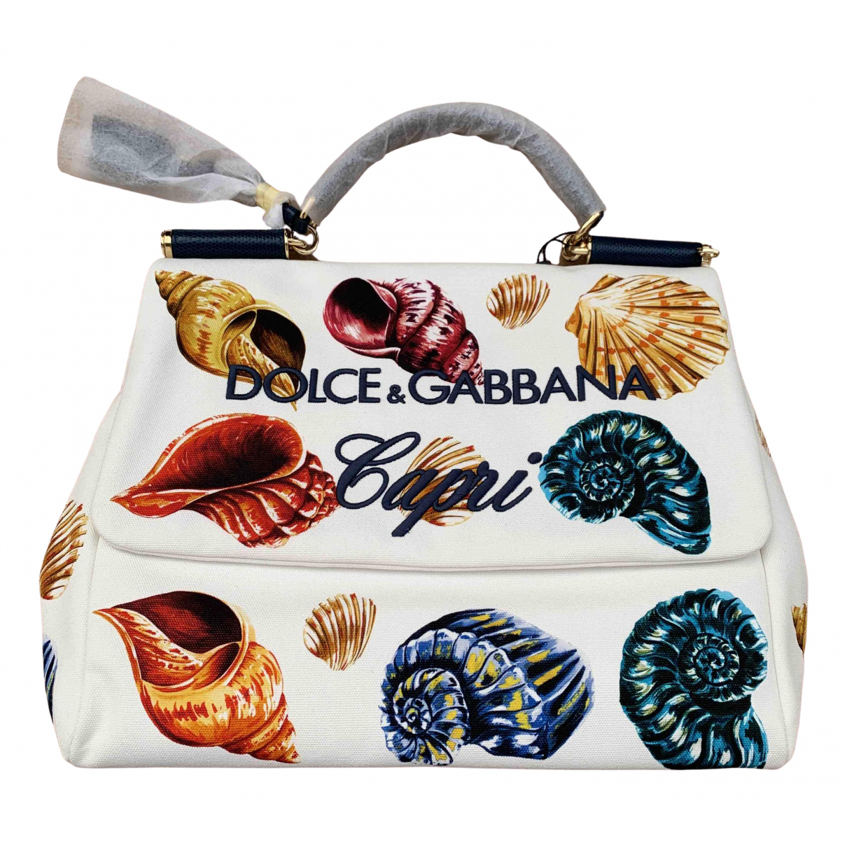 Dolce & Gabbana Sicily White Cloth handbag for Women \N