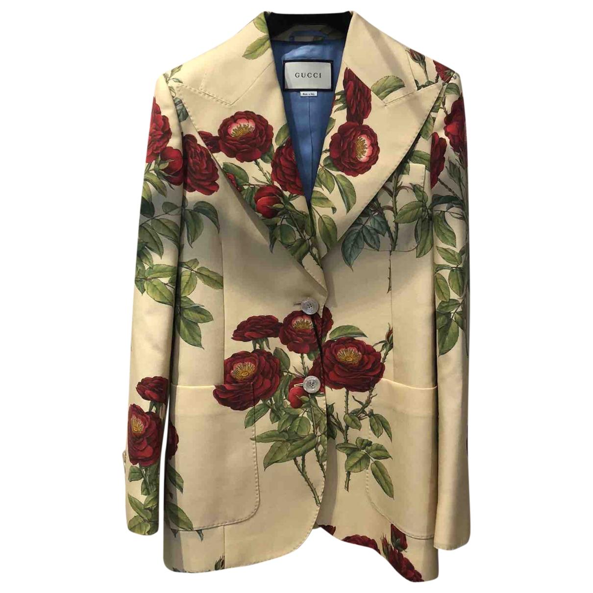 Gucci \N Ecru Wool jacket for Women 38 IT