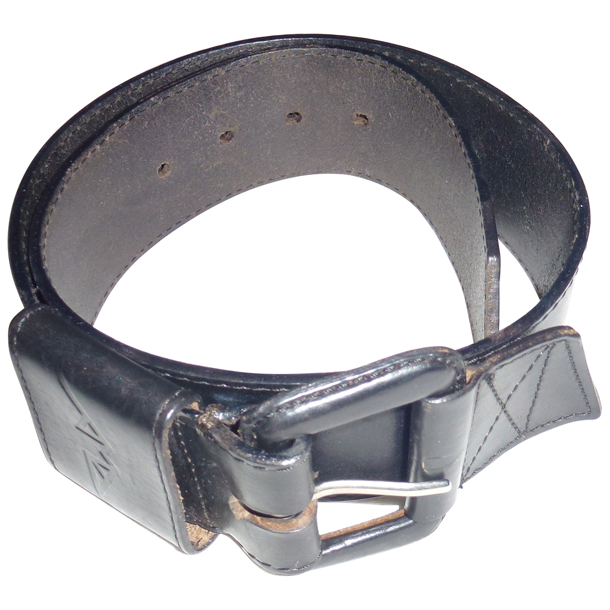 Anne-marie Beretta \N Black Leather belt for Women 85 cm