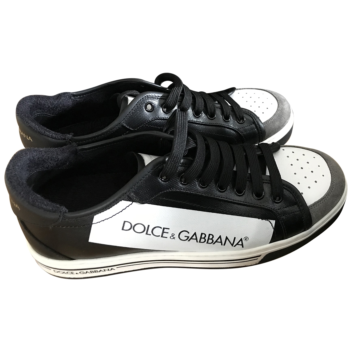 Dolce & Gabbana \N Black Leather Trainers for Men 42 EU